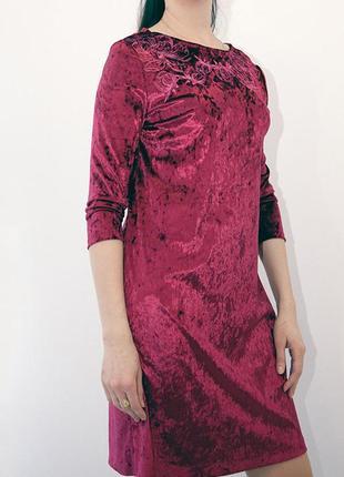 Платье вечернее ,коктейльное с вышивкой из бархата