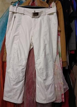 Горнолыжные женские белые брюки большой размер
