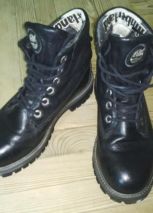 Кожаные черные ботинки timberland original 36 / 37 размер
