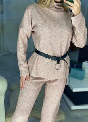Шикарный брючный костюм из ангоры