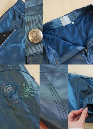 Зимние штаны лыжные утепленные синие с подкладом широкие2 фото