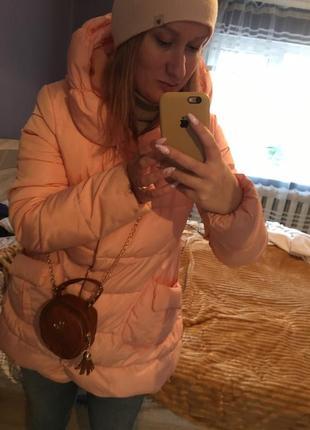 Куртка пухова тепла розова