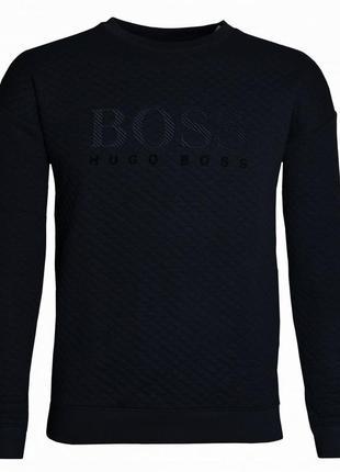Hugo boss толстовка с круглым вырезом и логотипом (l-xl)оригинал