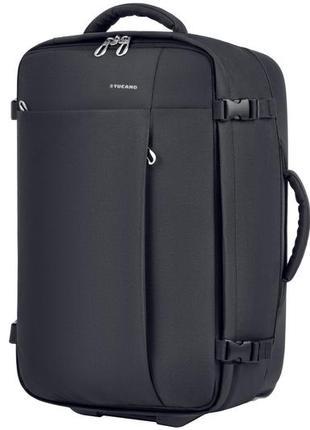 Черная двухколесная сумка с телескопической ручкой