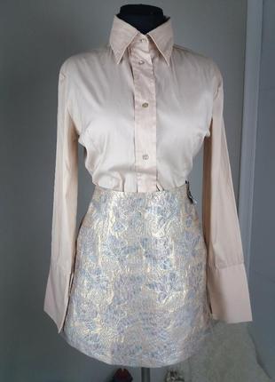 Жаккардовая юбка очень красивая золотая