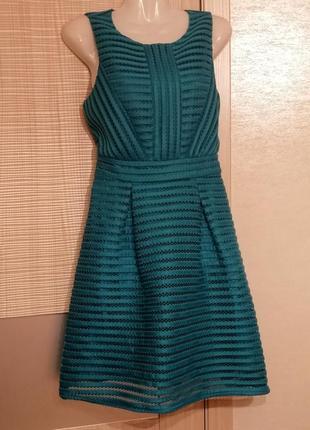 Акция 1+1=3🤑🤩бирюзовое платье нарядное с сеткой выкройками,пышной юбкой