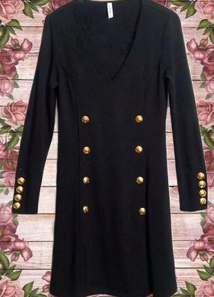 Платье стильное с золотистыми пуговицами chiara forthi