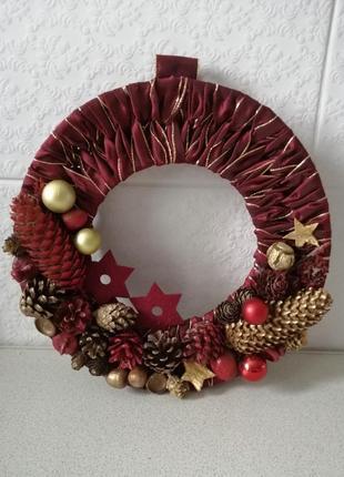 Різдвяний віночок, новорічний декор