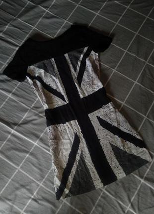 Платье с британским флагом