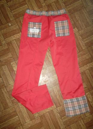 Шикарные штаны с подкатами под burberry