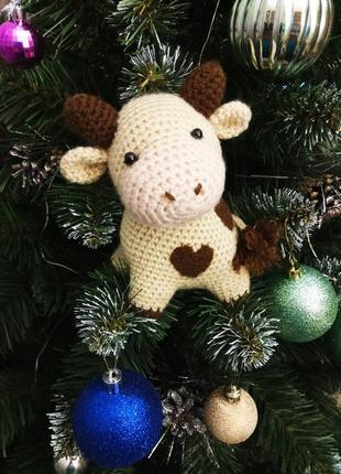 Декор к новому году игрушка бычок