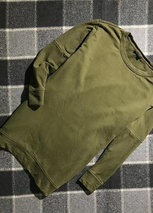 Женская кофта (свитшот) овер-сайз topshop ( топшоп л-хлрр идеал оригинал хаки)