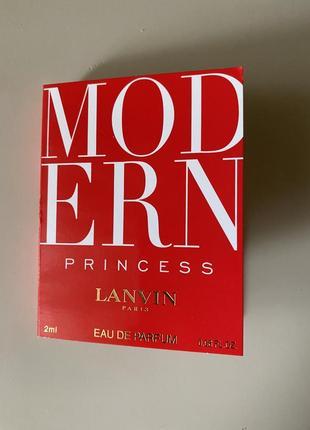 Новый пробник духов lanvin modern princess  2 ml
