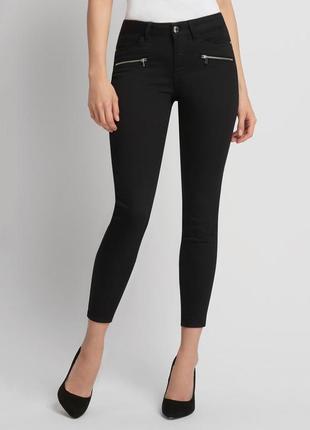 Трендовые укороченные джинсы штаны черные джинси atmosphere