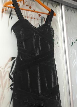 Вечернее маленькое чёрное платье бандаж h&m