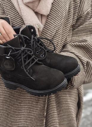 Оригинальные зимние ботинки timberland boots на меху