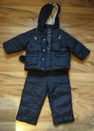 Демисезонные теплый костюм armani baby