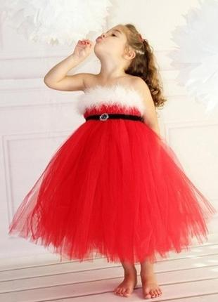Красивое нежное платье на новый год,  ширина регулируется поясом