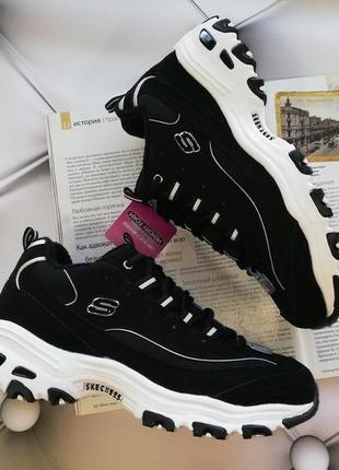 Эффектные утепленные кроссовки американского бренда skechers d'lites - freeze talk
