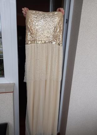 Платье блестящее с паетками вечернее нарядное