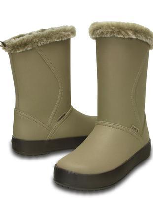 Зимние сапоги crocs colorlite mid boot 39 размер оригинал
