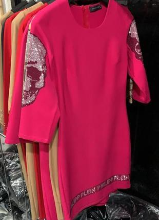 Шикарное платье, люкс качество,с черепками, размер м.