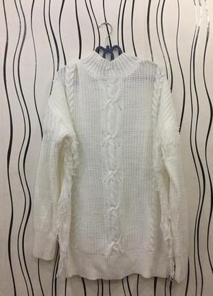 Белый свитер,туника