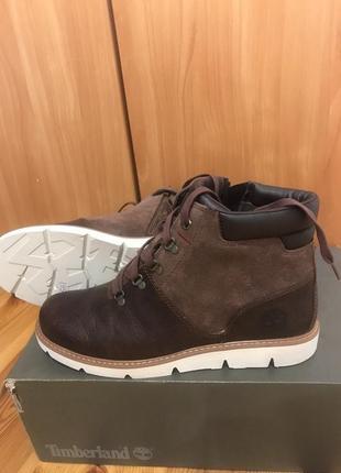 Кожаные, демисезонные ботинки timberland