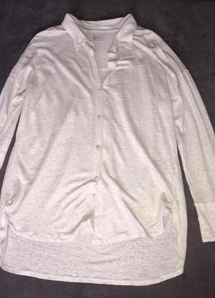 Blaumax 100% lineo классная льняная рубашка экрю (sarah pacini oska max mara)