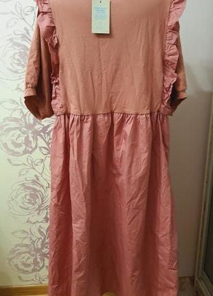 Большой выбор брендовых вещей! платье натуральное стиль бохо большой размер3 фото