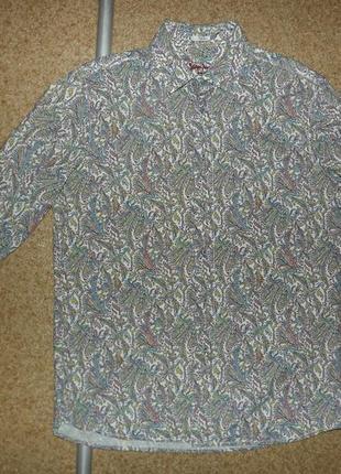 Рубашка signum floral print slim cut