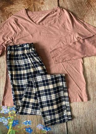 Теплая пижама с байковыми брюками,домашний костюм esmara германия