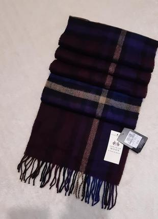 Новый с этикеткой шерстяной шарф мужской шерсть ламы marks & spencer