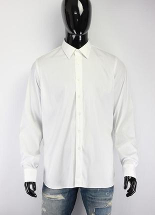Хлопковая белоснежная рубашка