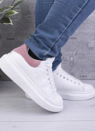 Кроссовки кроссы зимние зима кожаные эко кожа кожзам на шнуровке кеди кеды зимові
