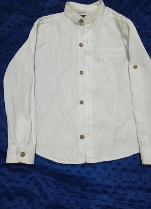 Стильная льняная рубашка для мальчика