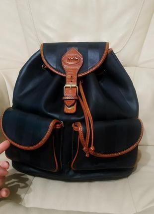 Фирменный рюкзак. кожа. италия