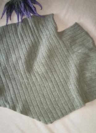 Шикарное теплое пончо,с шерстью ягнят и ангорой в составе,44-54разм.