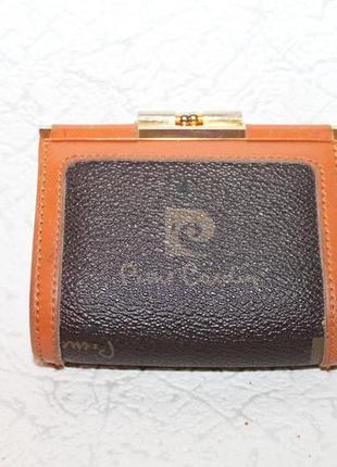 Кожаный кошелёк от pierre cardin