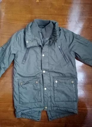 Удлиненная непромокаемая куртка парка на мальчика