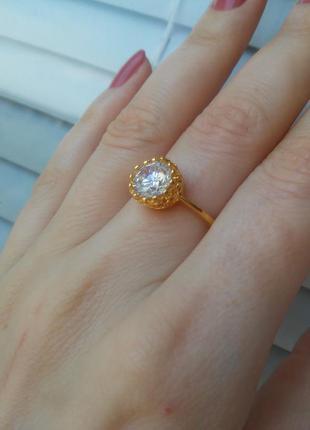 Кольцо корона золотое