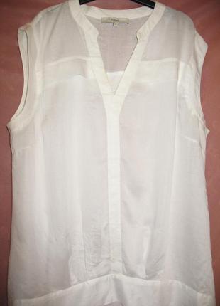 Чудесная белая легкая  блуза next