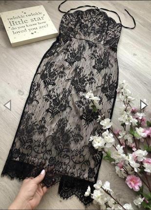Шикарное кружевное платье футляр, платье облегающее