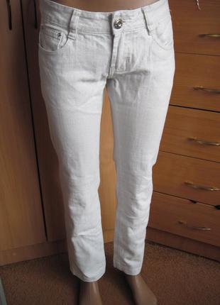 Белые джинсы штаны брюки goodies с люрексом 48 р