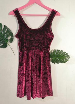 Велюровое бархатное платье topshop