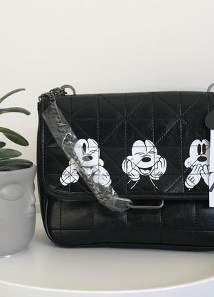 Сумка клатч zara disney mickey mouse, новая с бирками!