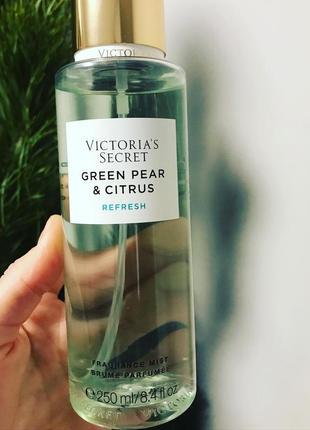 Green pear and citrus victoria's secret парфумований спрей мист