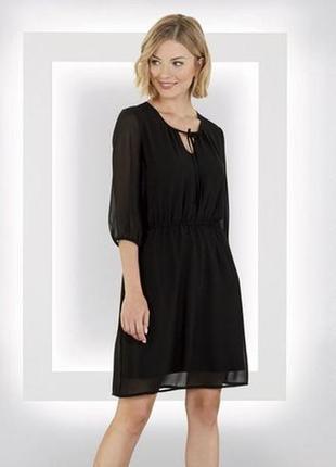 Платье, шифоновое, черное, нарядное, батал, размер 56