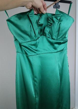 💣роскошное атласное платье футляр миди.coast.одежда бренд!