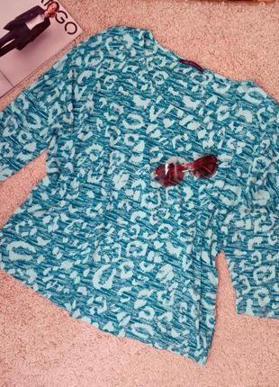 Marks & spencer  модная стильная кофта /футболка принт хлопок uk18
